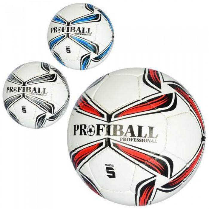 1bc2196f8f79ad Мяч футбольный 2500-78 (30шт) размер 5, ПУ1,4мм, ручн,работа, 420-430г,  3цв, в кульке,1цвет в ящике